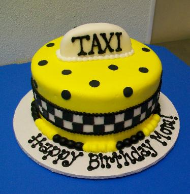 Taxi Birthday Cake